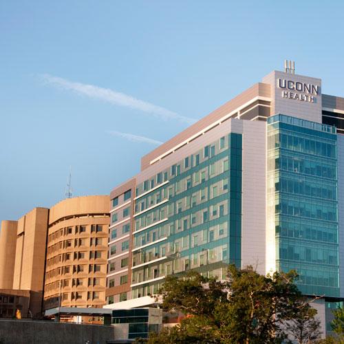 UConn Health John Dempsey Hospital tower