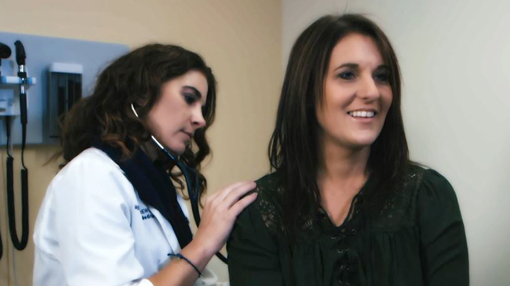 Dr. Rebecca Andrews with patient Lisa Cincotta