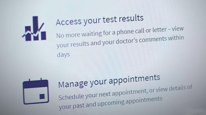 UConn HealthONE portal screen