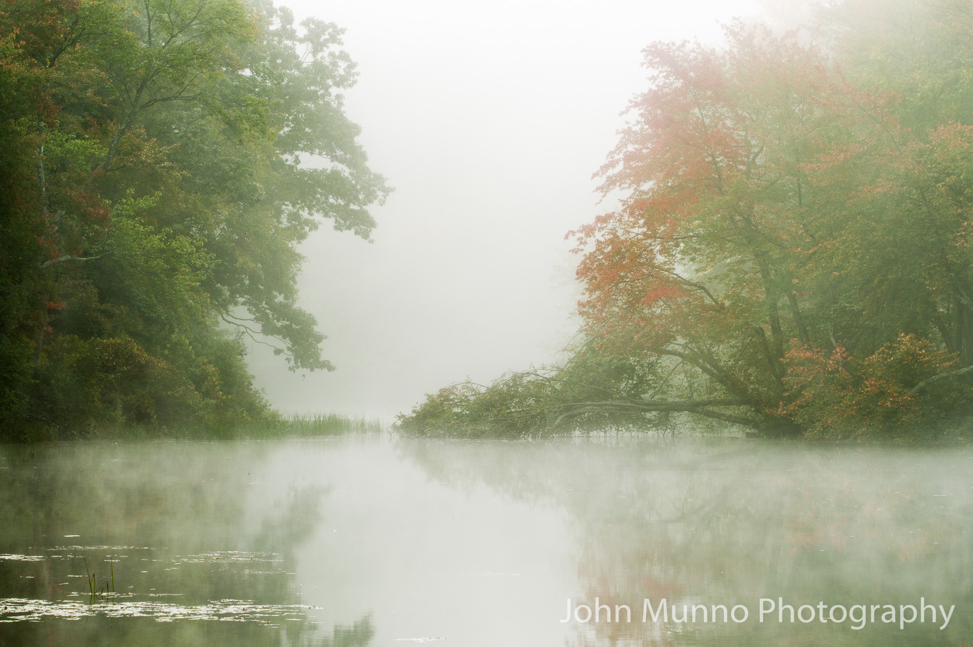 Misty lake in Southford, CT (John Munno Photography)