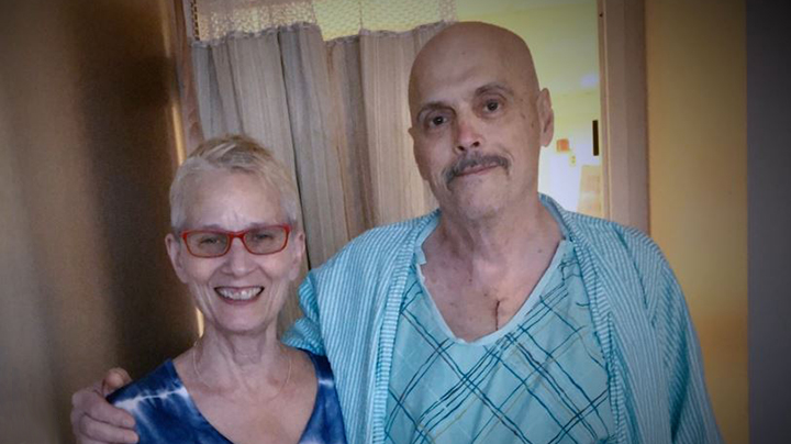Andrew, heart failure patient, with his wife