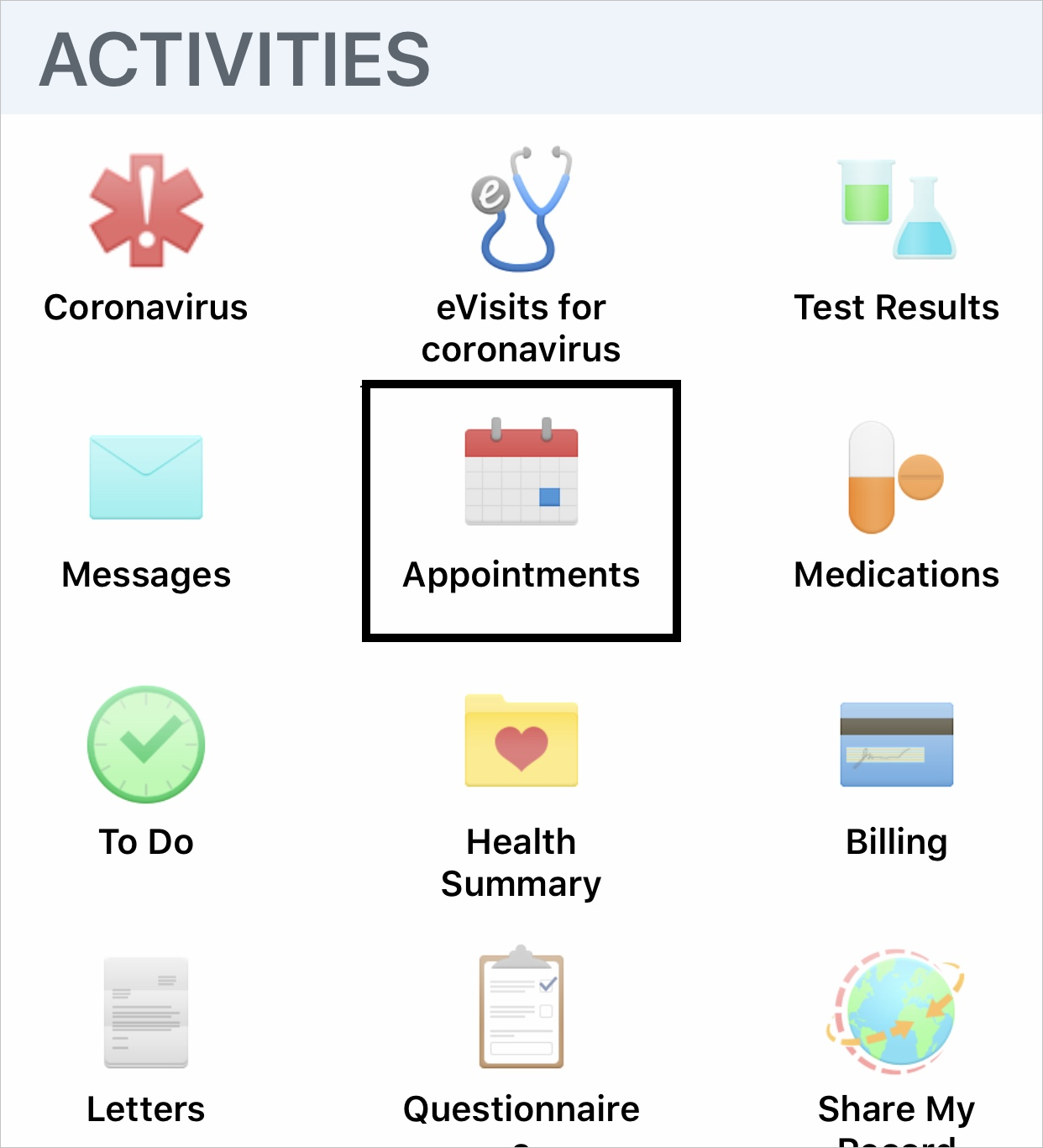 How to Get to Appointments screenshot