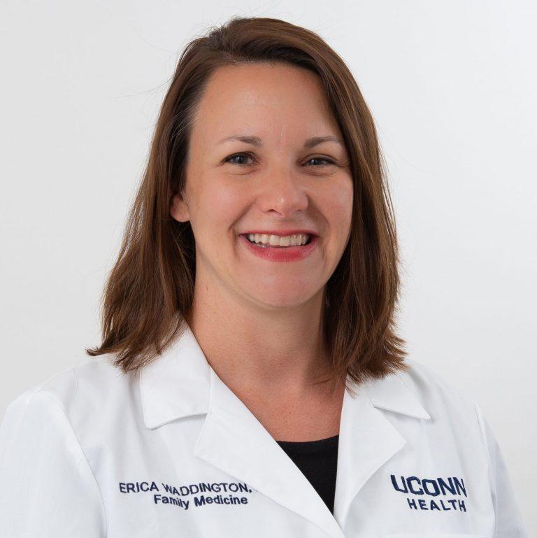 Dr. Erica Waddington portrait (white coat)